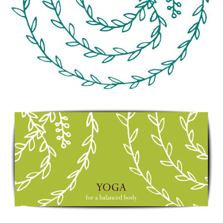 stretchy: Gift card template for studio or class yoga retreat.  editable pattern