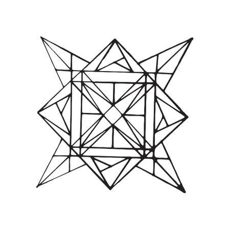 Sacred geometry pattern in . Arabic pattern background