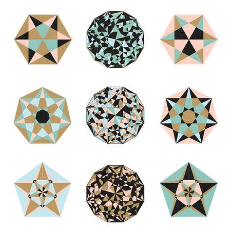 Sacred geometry symbols in . Arabic  pattern