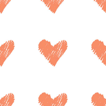 Seamless pattern with little hearts. Perfect for background and scrapbooking paper Illustration