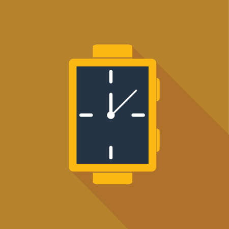 clasps: Watch icon in flat style for web, infographics and creative design Illustration