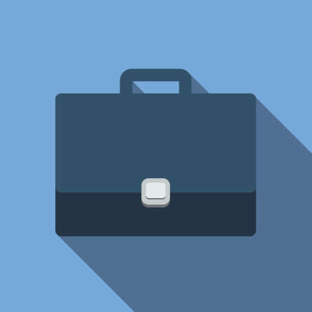 pen tablet: Briefcase icon in flat style for web, infographics and creative design Illustration