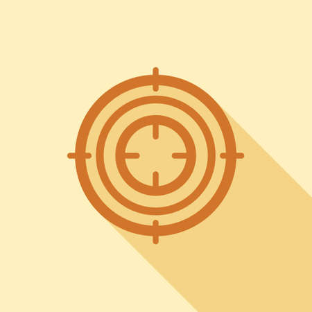 Purpose icon in flat style for web, infographics and creative design Illustration