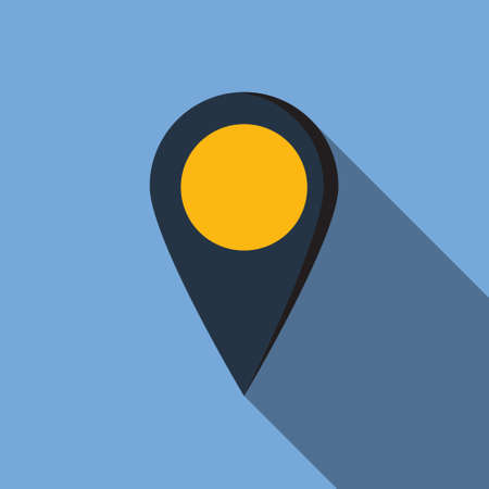 Map icon in flat style for web, infographics and creative design