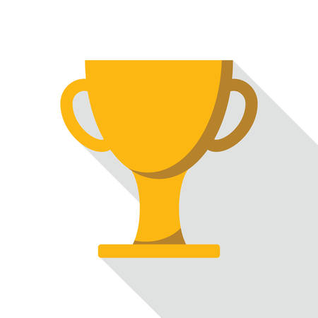 merit: Cup winner icon in flat style for web, infographics and creative design