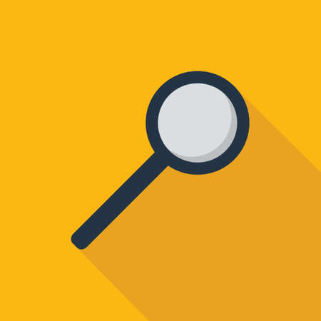 Magnifying glass icon in flat style for web, infographics and creative design