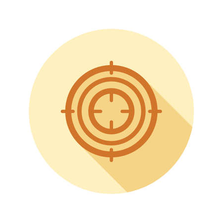 Purpose icon in flat style on circle for web, infographics and creative design Illustration