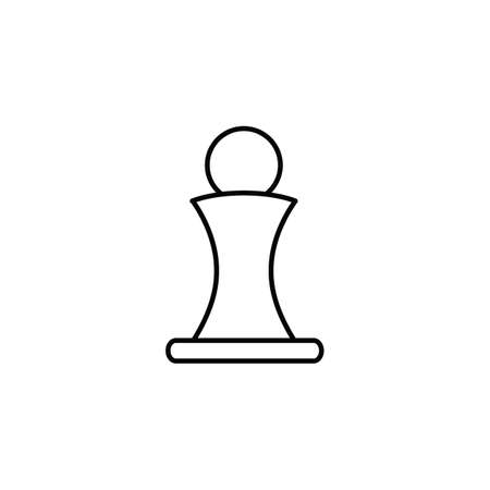 tactics: Chess pawn icon in outline style for web, infographics and creative design. Isolated vector illustration