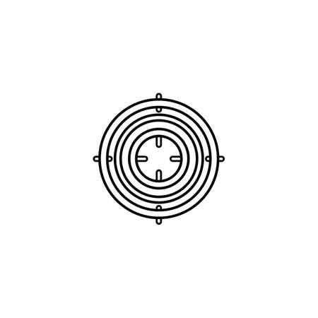 Icono de propósito en estilo de esquema para web, infografía y diseño creativo. Ilustración vectorial aislado