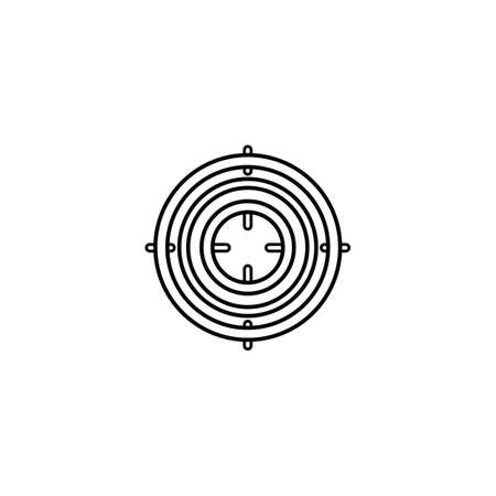 Purpose icon in outline style for web, infographics and creative design. Isolated vector illustration  イラスト・ベクター素材