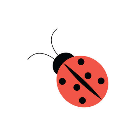 ladybird: Ladybug icon in flat style for web, infographics and creative design. Vector illustration