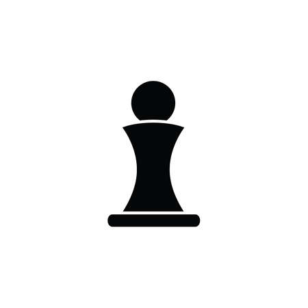 victim war: Chess pawn icon in simple style for web, infographics and creative design. Isolated vector illustration Illustration