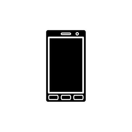 smartphone apps: Smartphone icon in simple style for web and infographics. Isolated vector illustration