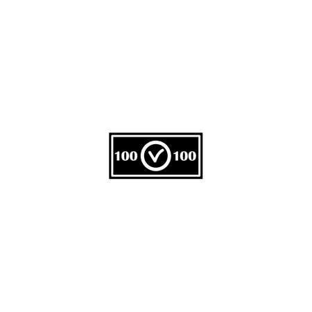 Icono de dinero en estilo simple para web e infografías. Ilustración vectorial aislado Foto de archivo - 80816957