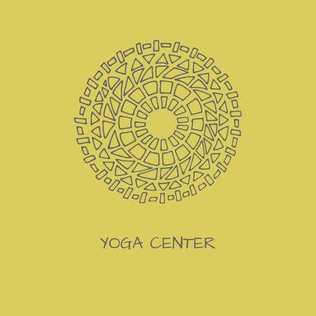 Logo in arabic style  for yoga studio, holistic center and alternative medicine Illustration