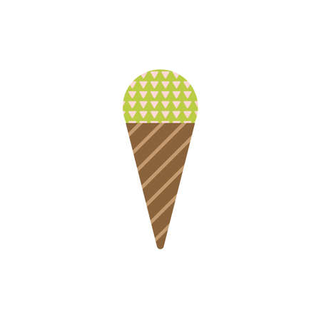 contemporary taste: Ice-cream Icon in Scandinavian Style for print, fabric and creative design. Vector illustration Illustration