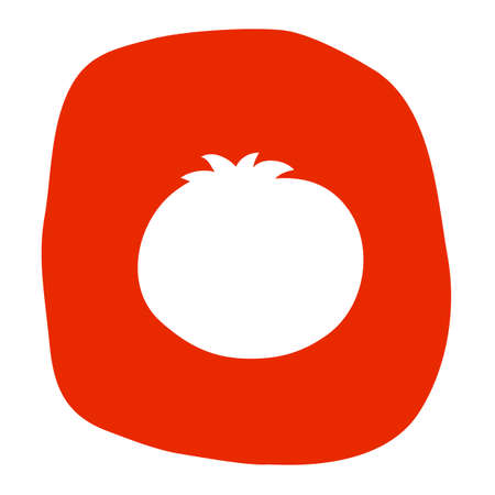 Tomato icon in flat style. Vector illustration for print, cards and creative design Ilustração