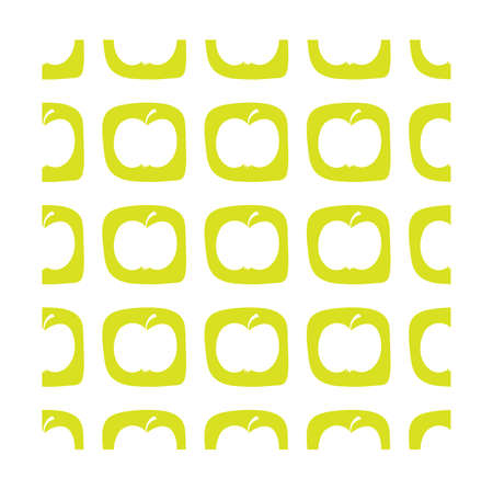 Apple seamless pattern in flat style. Vector illustration for print, fabric and creative design Illustration