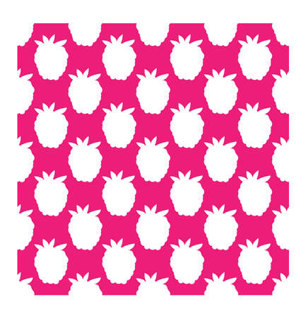 scrap book: Raspberry seamless pattern in flat style. Vector illustration for print, fabric and creative design