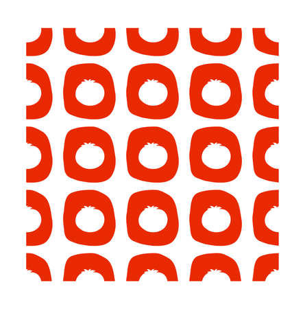 Tomato seamless pattern in flat style. Vector illustration for print, fabric and creative design