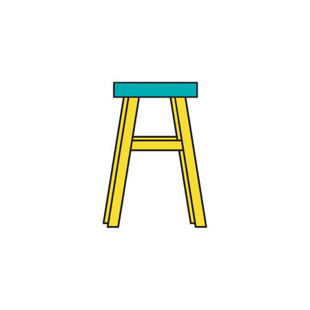 Chair in outline style. For web, cards, and interior design. Vector illustration