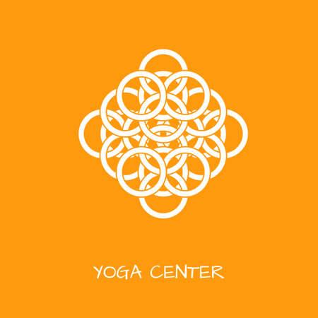 Unusual logo in simple arabic style  for yoga studio, holistic center and alternative medicine