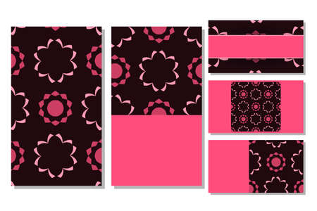 Visit cards set in arabic style. Vector illustration