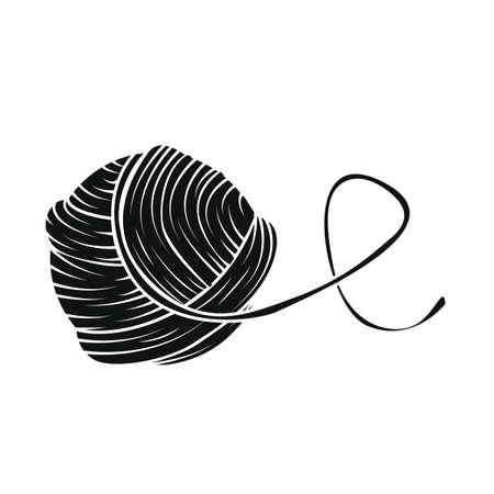 Garn Ball Im Cartoon-Stil. Für Druck, Logo, Kreatives Design. Vektor ...