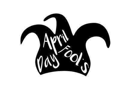 April fool's day poster in simple style. Vector illustration.
