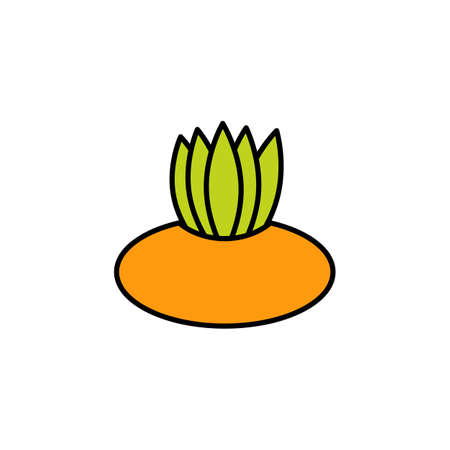 Flower pot icon in flat style. For web, print and creative stickers. Vector illustration
