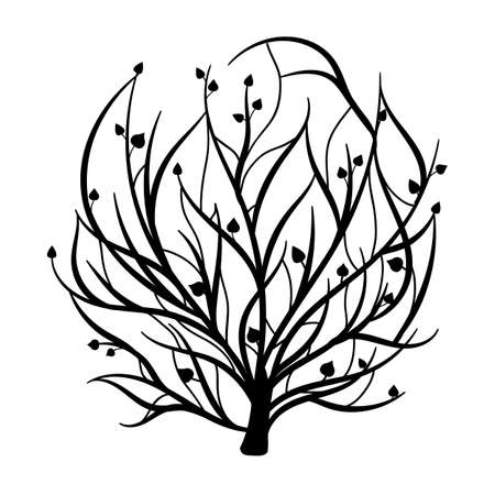 Tree of life in hand drawn style. Stock Illustratie