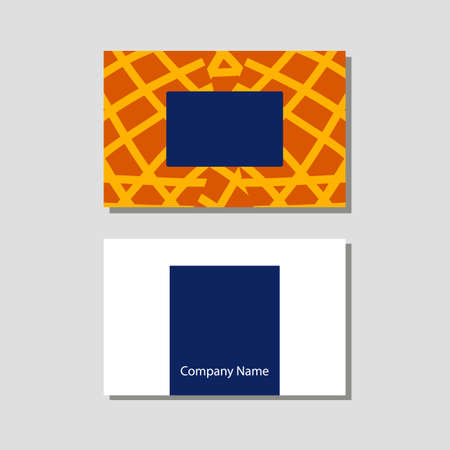 Vector knitting shop and crochet store visit card in flat style Illustration