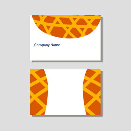 Vector knitting shop and crochet store visit card in flat style 일러스트