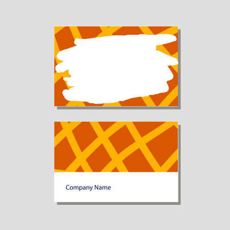 Vector knitting shop and crochet store visit card in flat style Stock Illustratie