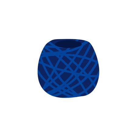 Vector yarn ball in flat style