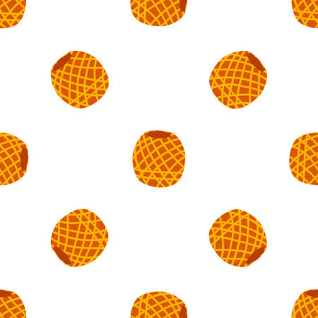 Vector yarn ball seamless pattern in flat style