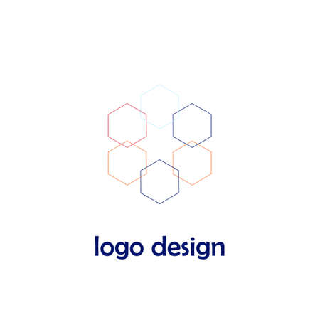 Creative logo design in flat style. For shop, store, business company, welness center. Vector illustration