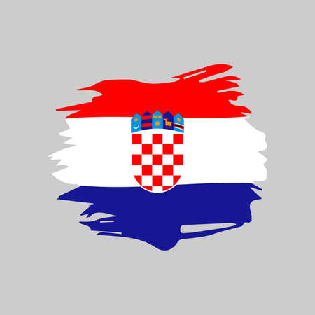 Croatia flag icon in flat style. For web, print and creative design.