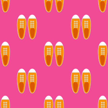 Sneakers seamless pattern in flat style. Vector illustration Vectores