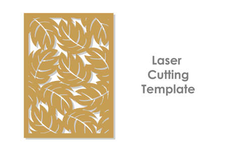Template for cutting in simple style. Ilustracja