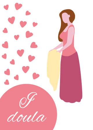 World Doula Week banners set in a modern cartoon style. I doula. Vector illustration