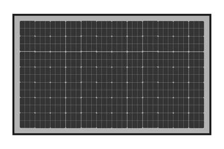 Sun energy panel icon in flat style. Vector illustration. Illustration