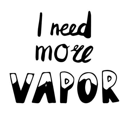 I need more vapor lettering in hand drawn style. Vector illustration Çizim