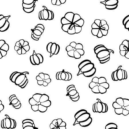 Thanksgiving day seamless pattern in hand drawn style. Vector illustration
