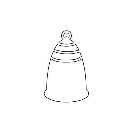 Menstrual cup icon in outline style. For ads, shop, womans magazine. Vector illustration.