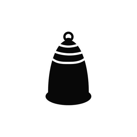 Menstrual cup icon in simple style. For ads, shop, womans magazine. Vector illustration. Illustration
