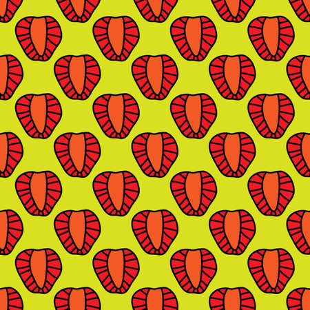 Strawberry seamless pattern in outline style. For business, company and farm.