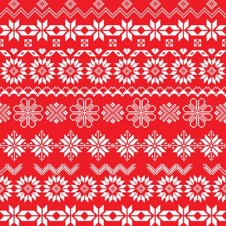 Norway fairisle sweater design in vector