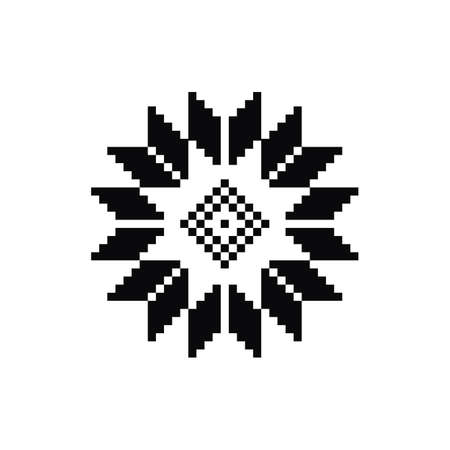 Scandinavian symbol for Norway fairisle sweater design in vector