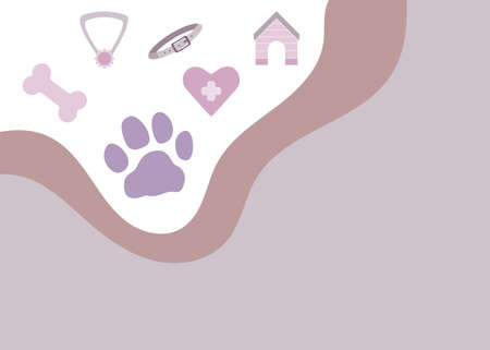 Pet shop banner in flat style. Vector illustration.